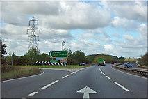 SK9034 : A1 northbound by Robin Webster