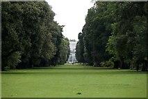 TQ1876 : Looking along the Syon Vista towards the palm house, the Royal Botanic Gardens, Kew by Mike Pennington