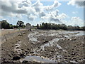 SN0403 : River Carew Dam at Carew Tidal Mill by PAUL FARMER