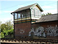 TL1898 : Woodstone Wharf signal box on the Nene Valley Railway by Paul Bryan