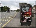 ST3089 : KFC advert on a Crindau bus shelter, Newport by Jaggery