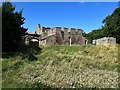 NT9047 : Buildings at south entrance, Norham Castle by Andrew Curtis