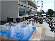 TQ3080 : Fountains near Royal Festival Hall by Paul Gillett