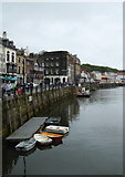 NZ8911 : Riverfront buildings in Pier Road Whitby by Rod Allday