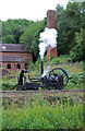 SJ6903 : Blists Hill Victorian Town - replica Trevithick locomotive by Chris Allen