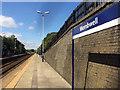 SE3802 : Platform 1 Wombwell railway station by Steve  Fareham