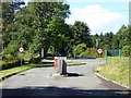 NY6393 : Toll road pay point at Kielder Castle by Oliver Dixon