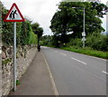 SO2415 : Warning sign - elderly people, Crickhowell Road, Gilwern by Jaggery
