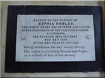 SD6279 : Holy Trinity, Casterton: memorial to an educationalist by Basher Eyre