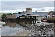 SH7877 : The bridges spanning the Afon Conwy by Richard Hoare