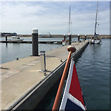SY6774 : Southwest on Pier T, Portland Marina by Robin Stott