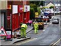 H4572 : Workmen, Scarffes Entry, Omagh by Kenneth  Allen