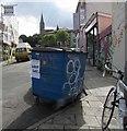 ST5874 : Suspicious bin, Overton Road, Bristol by Derek Harper