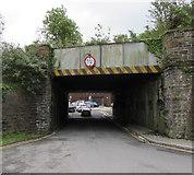 SS7597 : Low bridge near Neath railway station by Jaggery
