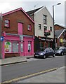SS7597 : Pink premises, Croft Road, Neath by Jaggery