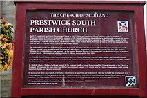 NS3525 : Prestwick South Parish Church History by Billy McCrorie