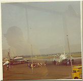 TQ8789 : Passengers at Southend Airport by David Howard archives