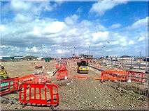 TQ7769 : New road in Chatham Docks by David Anstiss