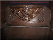 SD7336 : St Mary & All Saints, Whalley: misericord carving (ii) by Basher Eyre