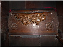 SD7336 : St Mary & All Saints, Whalley: misericord carving (vii) by Basher Eyre