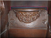 SD7336 : St Mary & All Saints, Whalley: misericord carving (xi) by Basher Eyre