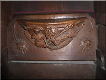 SD7336 : St Mary & All Saints, Whalley: misericord carving (xvi) by Basher Eyre