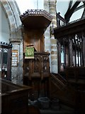 SD7336 : St Mary & All Saints, Whalley: pulpit by Basher Eyre