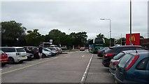 SJ7760 : Car parking at Sandbach by Peter Mackenzie