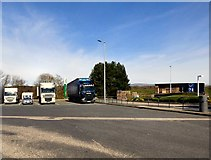 SD5052 : Lorry Park at Lancaster (Forton) Services by Gerald England