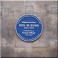 NH6645 : Neil M. Gunn plaque, High Street by Craig Wallace