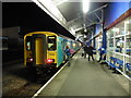 SM9538 : Train for Carmarthen at Fishguard Harbour station by Roger Cornfoot