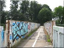 SP3278 : Above rail to Spencer Park by Martin Richard Phelan