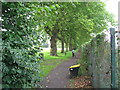 SP3278 : Spencer Park westwards path by Martin Richard Phelan