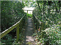 TQ0481 : Footbridge over a drain by the River Colne west of Little Britain Lake by Mike Quinn