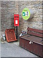 NY7843 : Elizabeth II postbox, Nenthead Community Shop and Post Office by JThomas