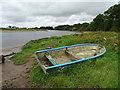 NY3561 : Boat beside the River Eden by John M