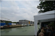 TQ3784 : View of the River Lea from the rear of Stour Space by Robert Lamb
