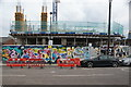 TQ3684 : View of street art on a wall on White Post Lane #2 by Robert Lamb