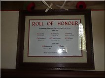 SD6279 : Holy Trinity, Casterton: Roll of Honour by Basher Eyre