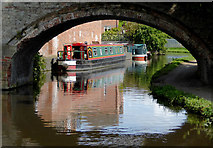 SO8276 : Canal at Caldwall Mill Bridge in Kidderminster, Worcestershire by Roger  Kidd