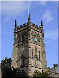 SO8276 : The tower of St Mary's Church in Kidderminster by Roger  Kidd