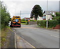 ST0681 : Yellow street sweeping vehicle, Groesfaen by Jaggery