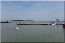 TM2532 : Jetty in Harwich Harbour by Geographer
