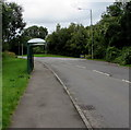 ST0581 : Ffordd Cefn-yr-Hendy bus stop and shelter, Miskin by Jaggery
