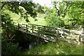 NY9291 : Footbridge over Raylees Burn by Russel Wills