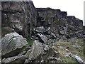 SK0383 : Abandoned stone quarry on Cracken Edge by Graham Hogg
