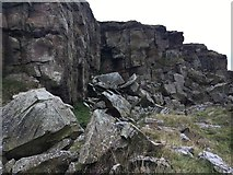 SK0383 : Abandoned stone quarry on Cracken Edge by Graham Hogg