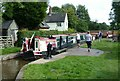SJ9429 : Working a pair, Sandon Lock, Trent and Mersey Canal – 1 by Alan Murray-Rust
