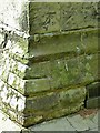 SJ9529 : Bench mark, All Saints Church, Sandon by Alan Murray-Rust