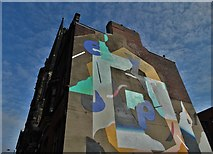 SK3587 : Gable end wall on Carver Street, Sheffield by Neil Theasby